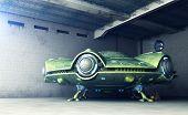 Area 51.ufo Is In A Hangar