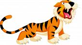 picture of cute tiger  - Vector illustration of Cute tiger cartoon roaring - JPG