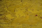 Decrepit Yellow Old Wood Background