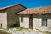 Ancient Stone House Tile Roof