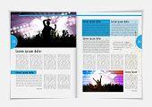 Magazine layout. Vector