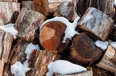 Firewood Logs Wood Background