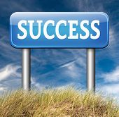 success in business and life road and key to successful happiness