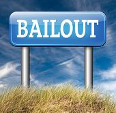 stock photo of crisis  - bailout or bankruptcy economic crisis and financial recession  
