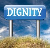 stock photo of self-confident  - dignity self esteem or respect confidence and pride road sign