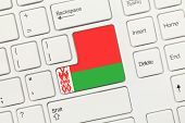 White Conceptual Keyboard - Belarus (key With Flag)