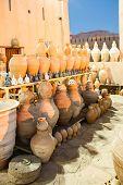 Rows of Pottery in Nizwa_Oman