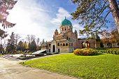 stock photo of boll  - Zagreb mirogoj cemetary monumental architecture in Croatia - JPG