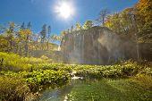 Amazing Waterfal Of Plitvice Lakes