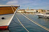 Idylic Turanj Harbor And Waterfront