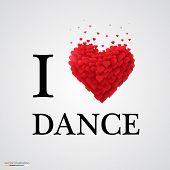 i love dance heart sign.