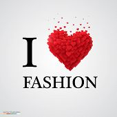 i love fashion heart sign.