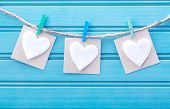 Hanging Blank Note Tags With Felt Hearts