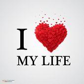 i love my life heart sign.