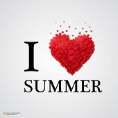 i love summer heart sign