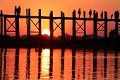 Tourists At Sunset