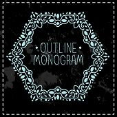 vintage frame mono line