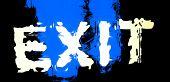 Black-n-Blue Shivering Exit Sign