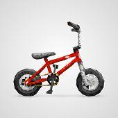Polygonal 3d bike. vector illustration