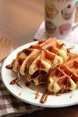 Belgium traditional waffles