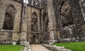 Ruins of Tintern Abbey, a former church in Wales