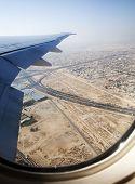 Aerial view of apartment houses in Dubai city (United Arab Emirates)