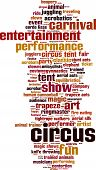 picture of contortion  - Circus Word Cloud Concept - JPG