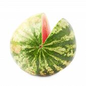 Watermelon fruit isolated