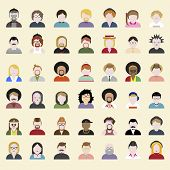 People Diversity Portrait Design Characters Avatar Vector
