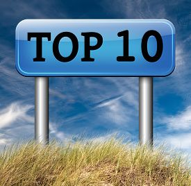 stock photo of tens  - top 10 charts list pop poll result  and award winners chart ranking music hits best top ten quality rating prize winner  