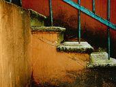 geknackt Vintage Treppe