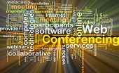 image of encoding  - Background concept wordcloud illustration of web conferencing glowing light - JPG