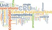 stock photo of cpu  - Background concept wordcloud illustration of central processing unit CPU - JPG