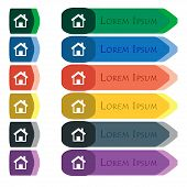 stock photo of home addition  - Home Main page icon sign - JPG