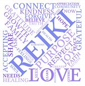 picture of reiki  - Reiki word cloud on a white background - JPG
