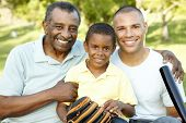 stock photo of grandfather  - African American Grandfather - JPG