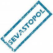 foto of sevastopol  - Blue rubber stamp with city name Sevastopol - JPG