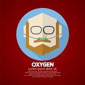 foto of respiratory  - Elderly Patient With Respiratory Oxygen Nasal Catheter Vector Illustration - JPG