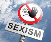 pic of gender  - stop sexism no gender discrimination and prejudice or stereotyping for women or men - JPG