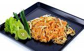 picture of thai food  - Thai food Pad thai Stir fry noodles isolated - JPG