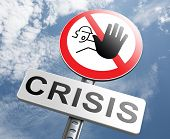 image of stock market crash  - stop crisis recession and inflation economic and bank downfall stock market crash - JPG