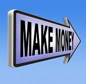 pic of profit  - earning money earning cash and make a profit making fast and easy financial progress - JPG