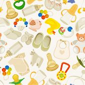 stock photo of neutral  - Vector illustration in Neutral design for baby shower party - JPG