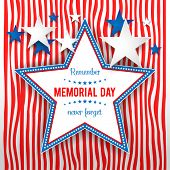 image of veterans  - Star on striped background - JPG