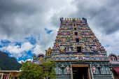 pic of hindu temple  - A hindu temple in Victoria capital city of Seychelles - JPG