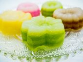 foto of chan  - Colorful Flower Layer Sweet Cake Thai Style  - JPG