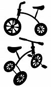 Children Tricycle Vector 01.eps