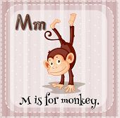 image of letter m  - Flashcard letter M is for monkey - JPG