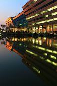 Bangkok Dec 20 : Part Of Government Complex Shines At Dusk In Bangkok Thailand On Dec 20.2010. Gover