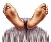 Fakir feet